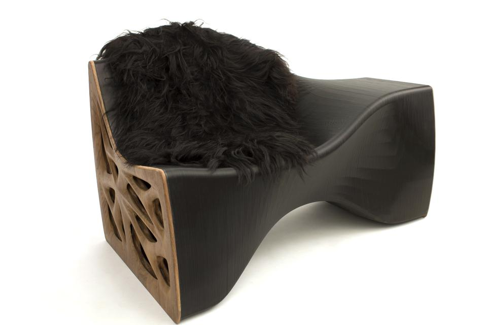 A custom-printed lounge chair by Model No.