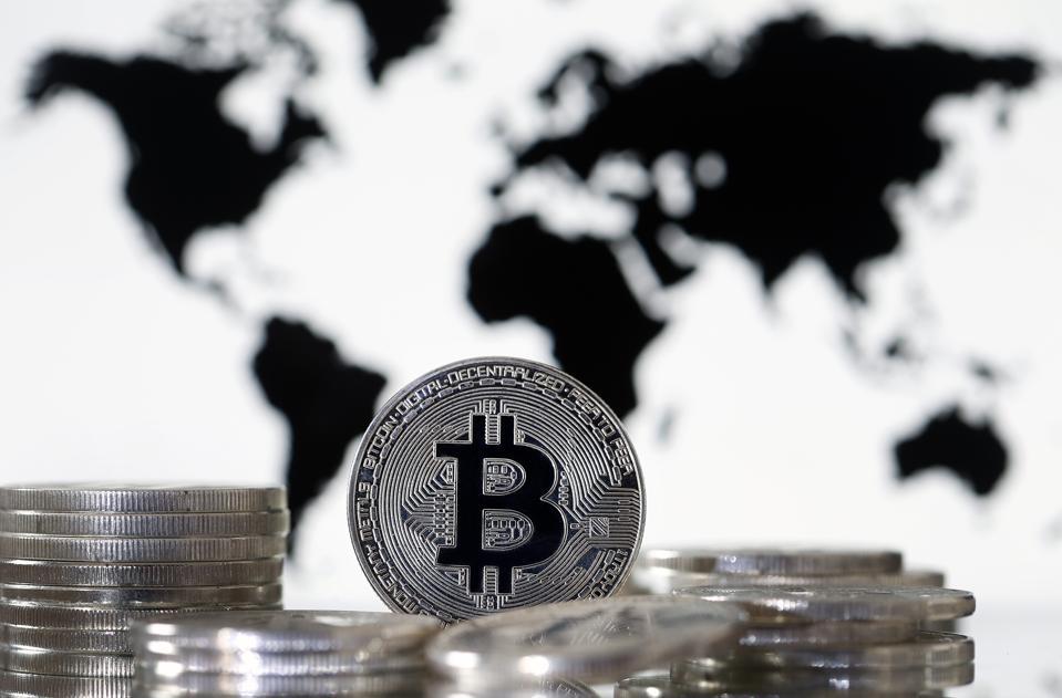Bitcoin virtuell Währung: Illustratioun