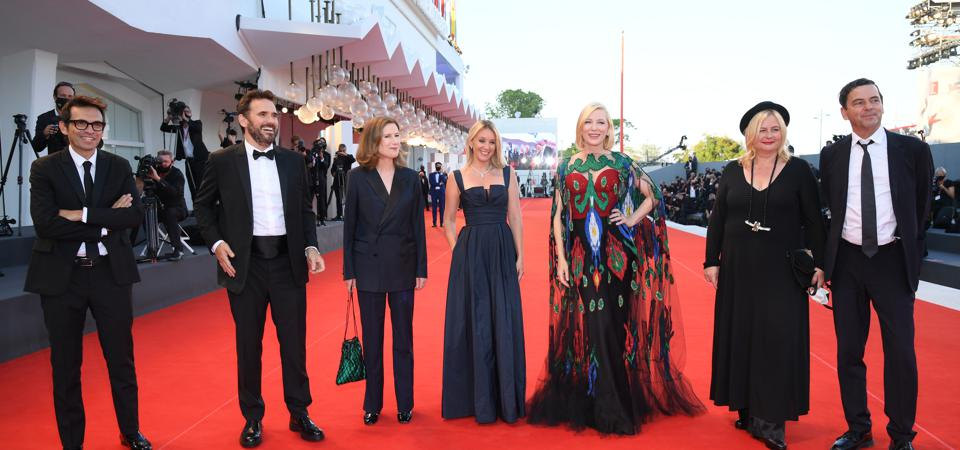 The 77th Venice Film Festival closing ceremony, with Jury President Cate Blanchett on the red carpet.