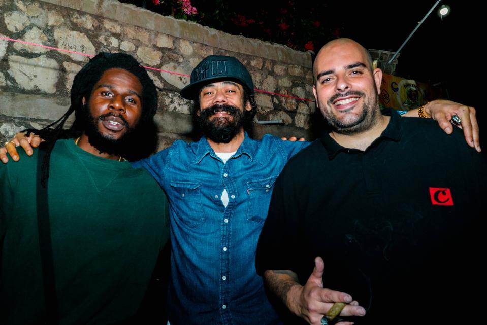 Chronixx, Damian Marley, Berner (L-R)