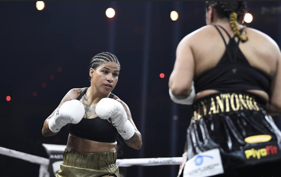 Six-time World Boxing Champion Melissa Hernandez in the ring