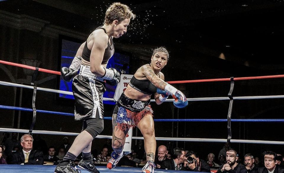 Champ Melissa Hernandez during a fight