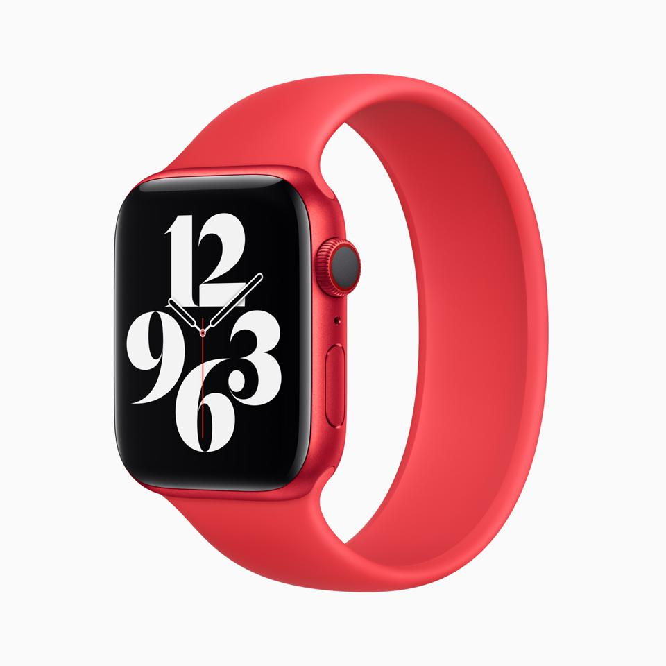 Apple Watch Series 6 in PRODUCT(RED) finish with sultry new Solo Loop band