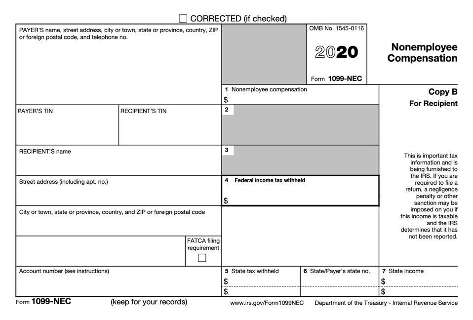 2020 Form 1099-NEC