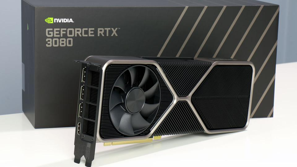 NVIDIA GeForce RTX 3080 Graphics Card And Box