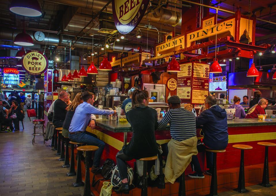 sandwich shop in indoor market