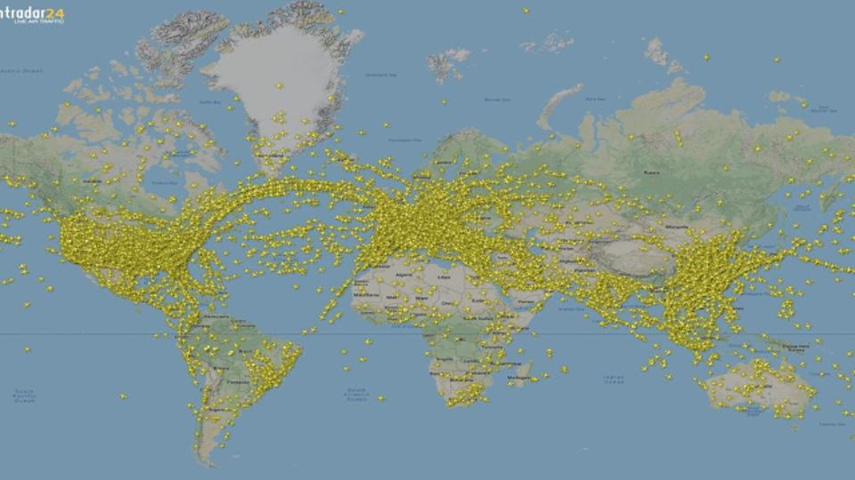 Record Air Traffic - Global Map