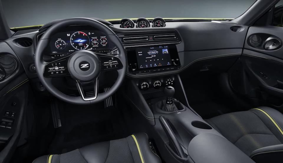 The new Z gets state of the art digital interior.
