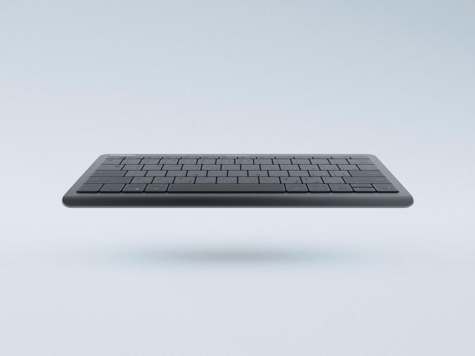 The Prestigio Click&Touch wireless keyboard (and mouse and trackpad.)