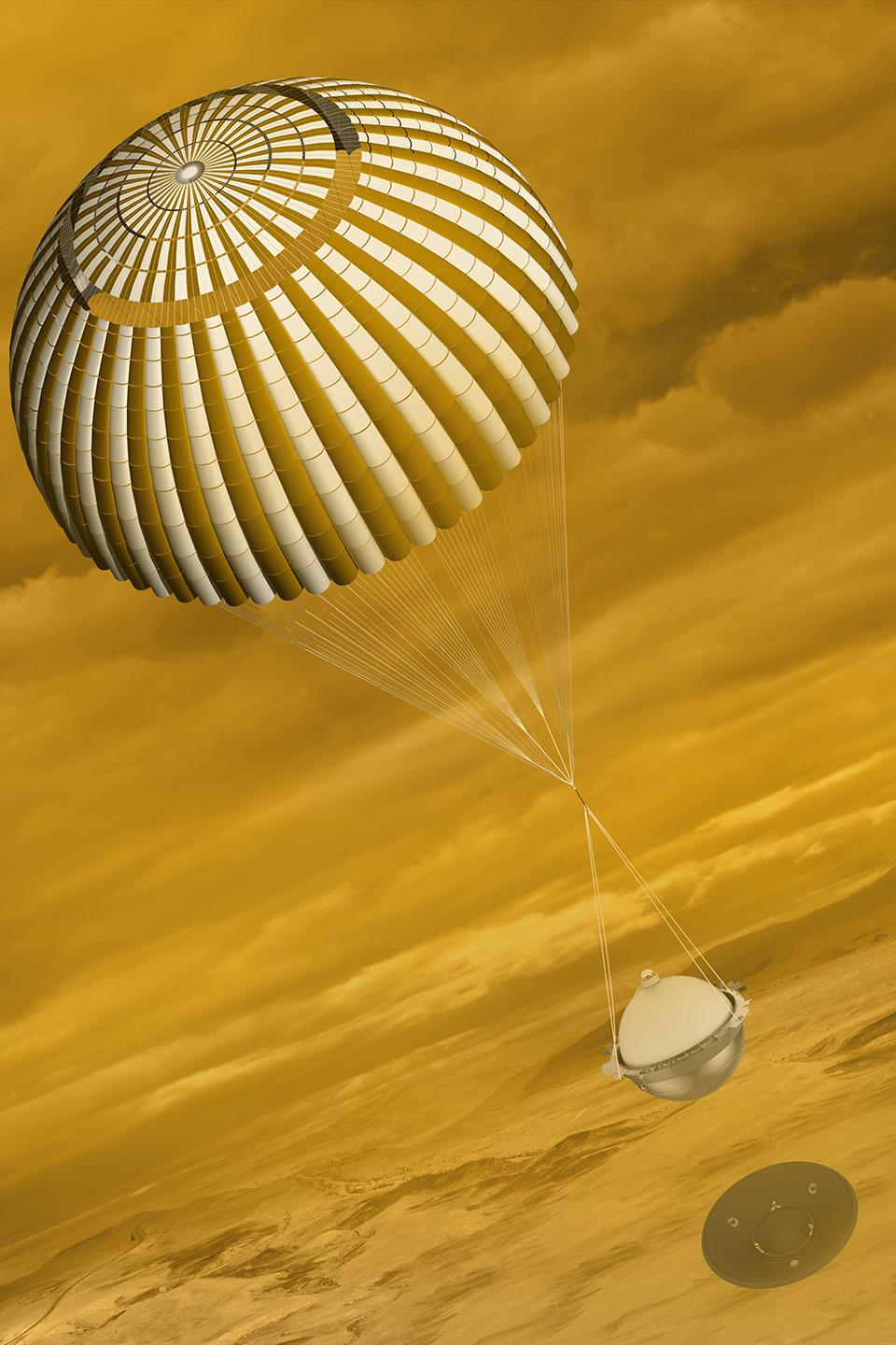 During its 63-minute descent, DAVINCI+ would collect and return measurements of Venus' atmospheric composition.