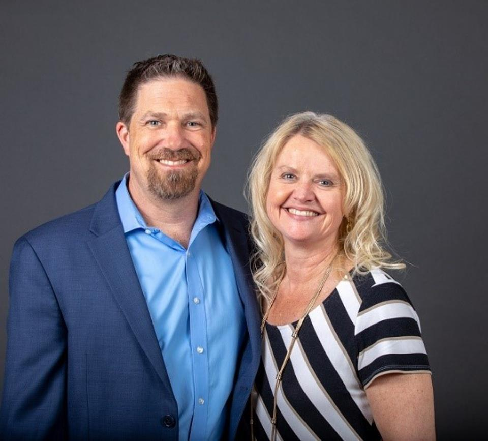 Kathryn and Michael K. Redman, founders of Half a Bubble Out