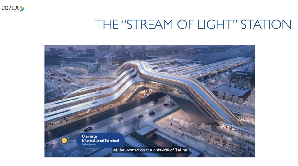 The ″Stream of Light″ station in Talinn