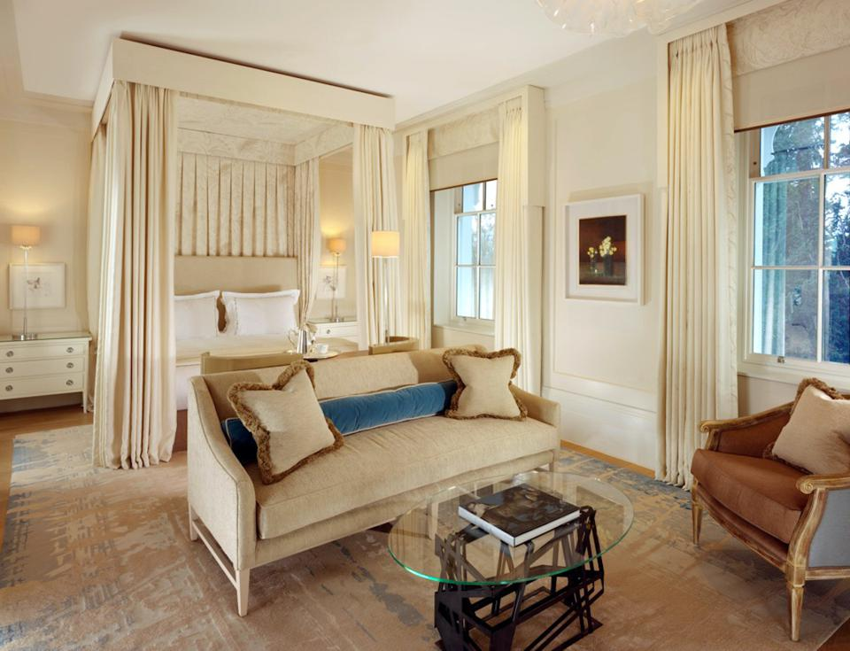suite in mansion house with four poster bed