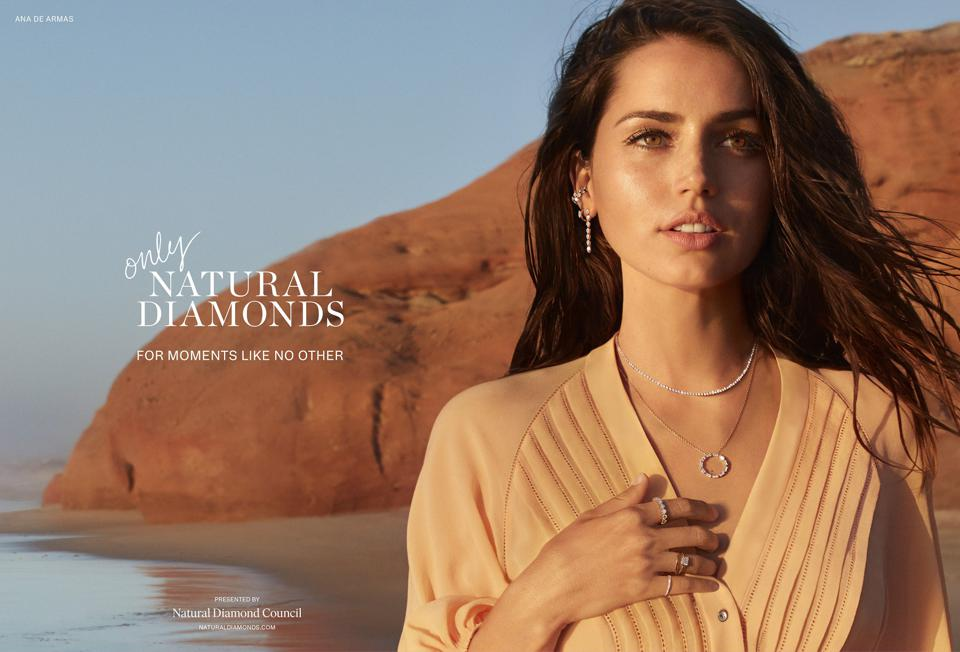 Actress Ana de Armas in new Only Natural Diamonds advertising campaign