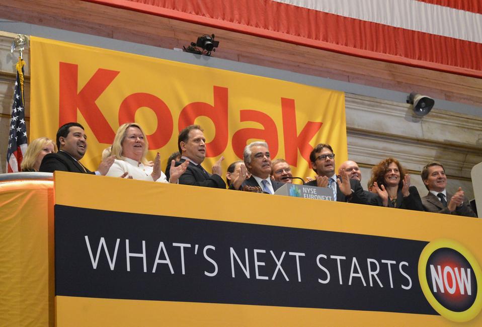 Eastman Kodak Company Rings The New York Stock Exchange Opening Bell