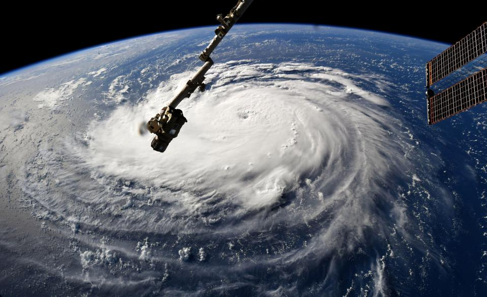 Image of Hurricane Florence on Sept 10 2018, from the International Space Station.