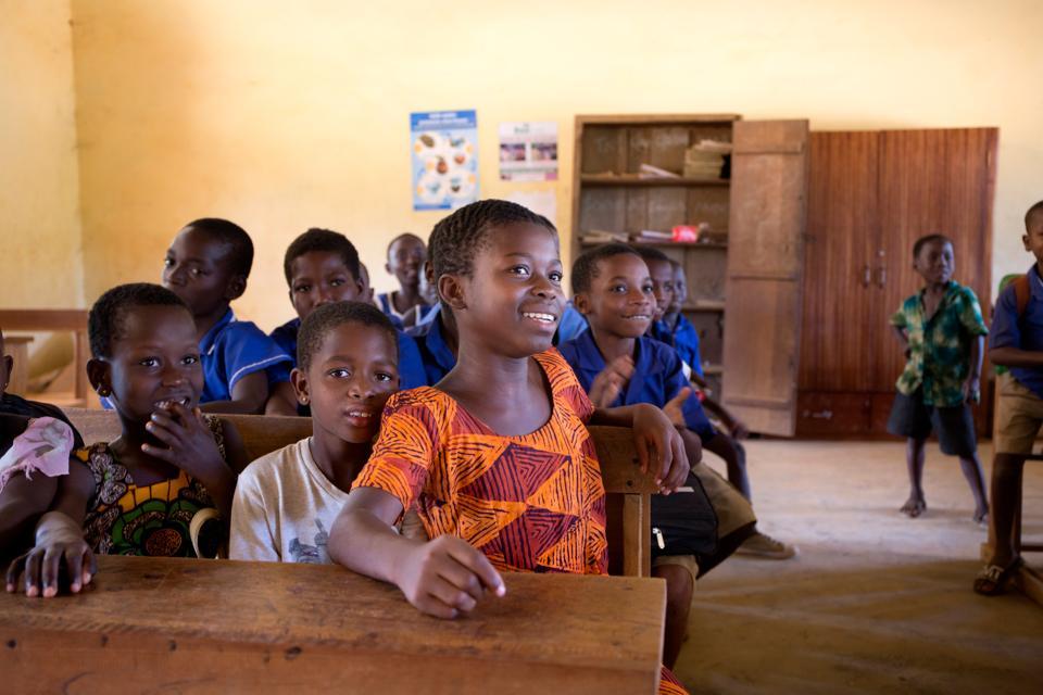 Children in a class room in Ghana.