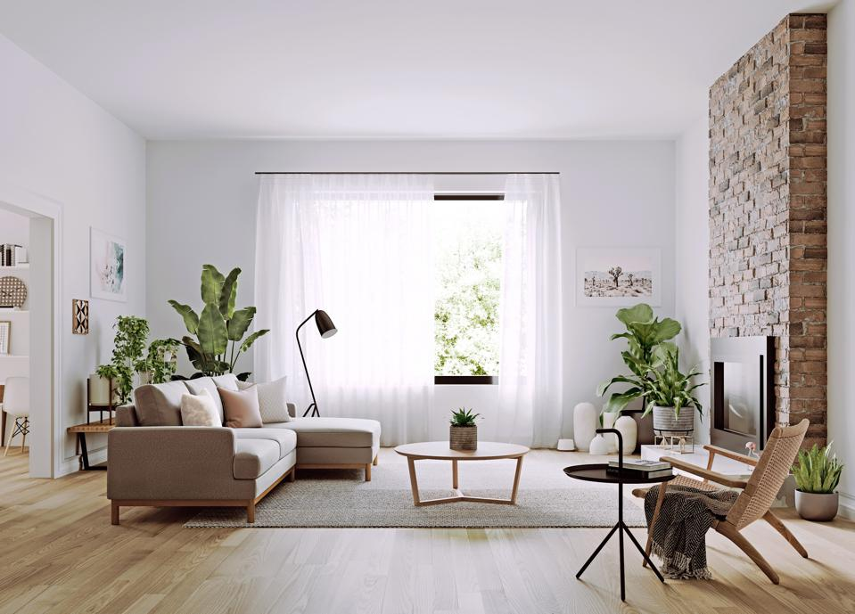 An airy, bohemian living room designed with Oliver Space furniture