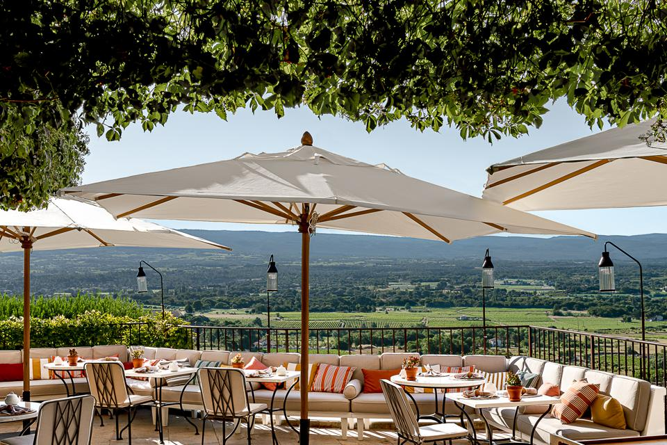 The view from Crillon Le Brave's restaurant.