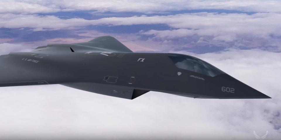 An AFRL artist concept showing a potential next-generation fighter concept, or F-X.