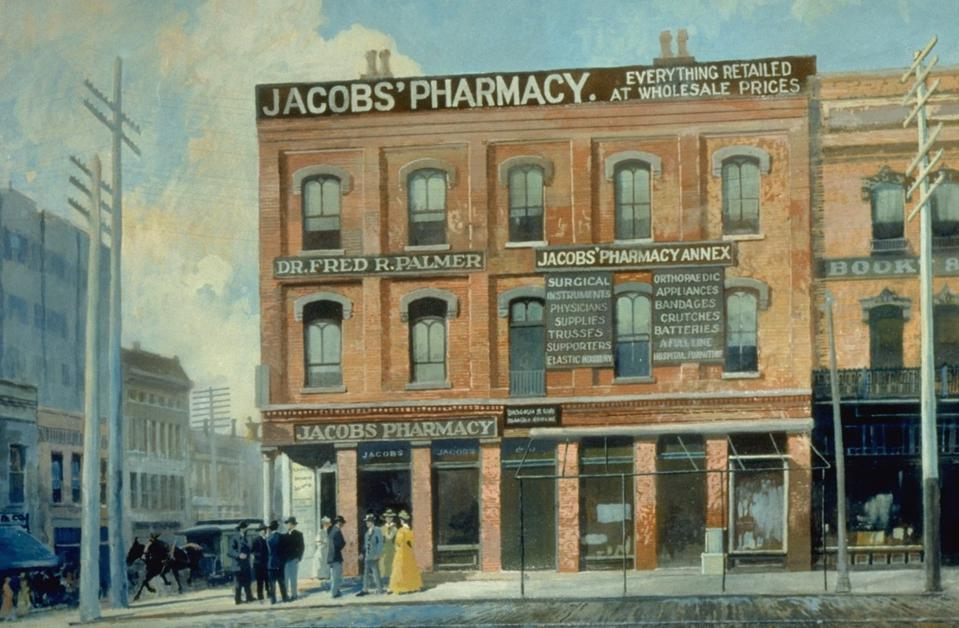 Jacob's Pharmacy in Atlanta Which First Served Coca-Cola