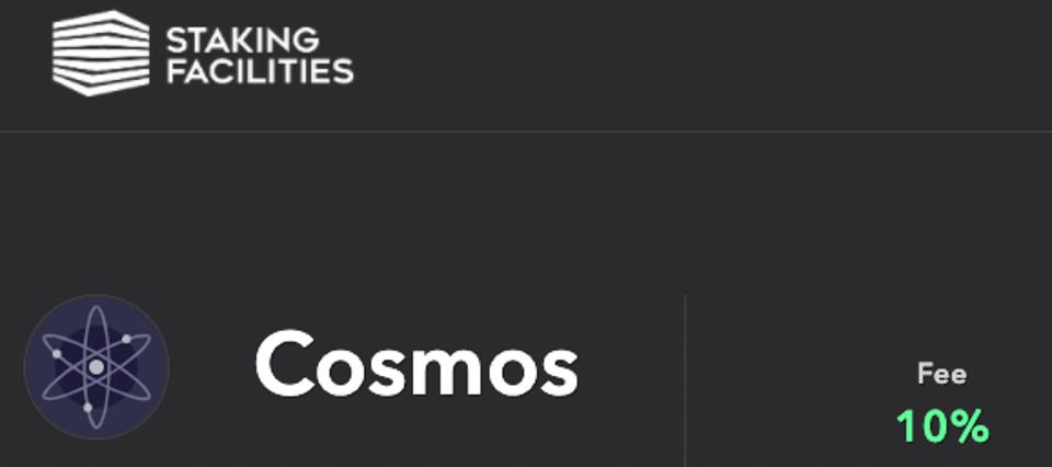 Example of staking 'yield' for digital asset like Cosmos is currently 10%.