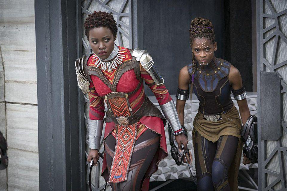 Lupita Nyong'o and Letitia Wright in Marvel's 'Black Panther'
