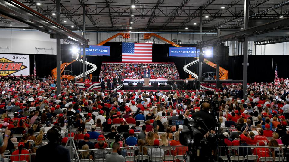 Donald Trump Holds Campaign Event In Nevada