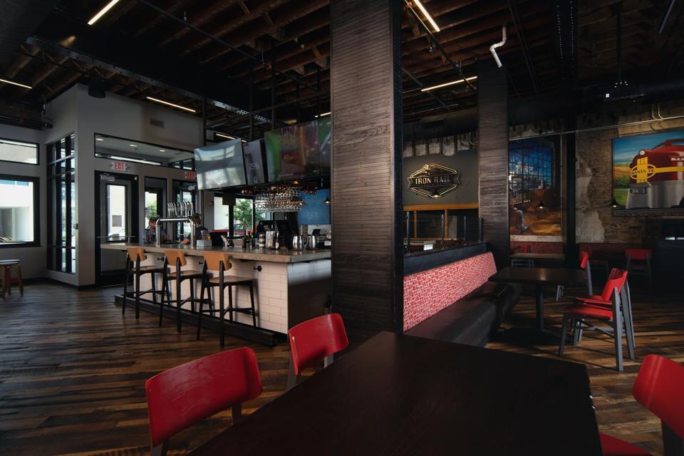 restaurant brewery interior
