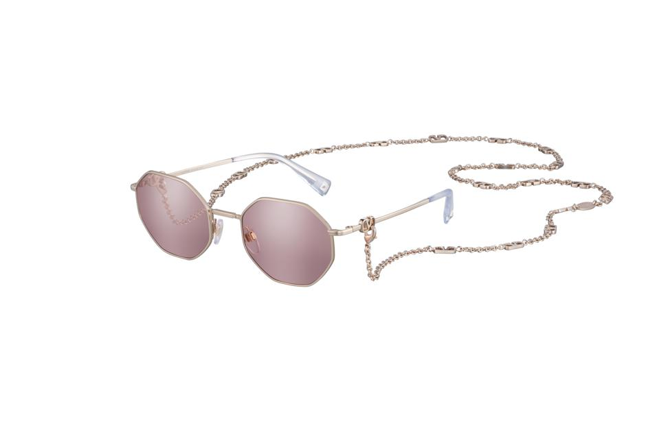 VALENTINO's Octagonal Sunglasses come with a bejeweled chain