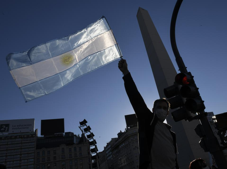 Demonstration Against Obligatory Quarantine in Buenos Aires