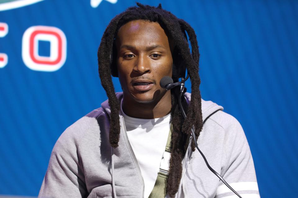 DeAndre Hopkins At Super Bowl NFL wide receiver