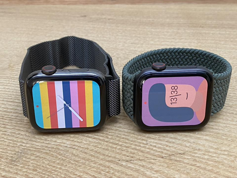 Apple Watch Series 6, left, and Apple Watch SE.