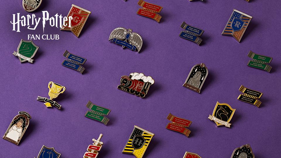 New Pin Seeking Collection, part of the Harry Potter Fan Club by Wizarding World Digital.