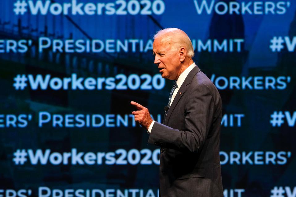 Presidential candidate Joe Biden speaks during the AFL-CIO...