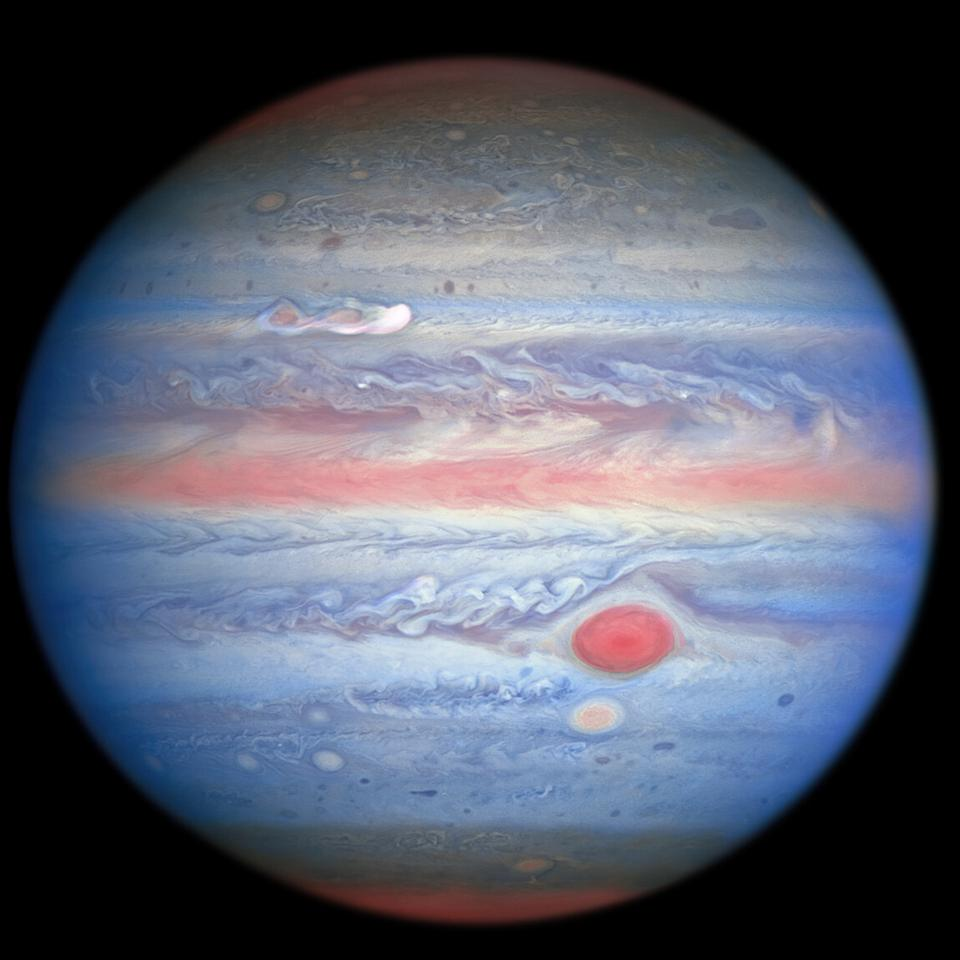 A multiwavelength observation in ultraviolet/visible/near-infrared light of Jupiter obtained by the NASA/ESA Hubble Space Telescope on 25 August 2020 is giving researchers an entirely new view of the giant planet.