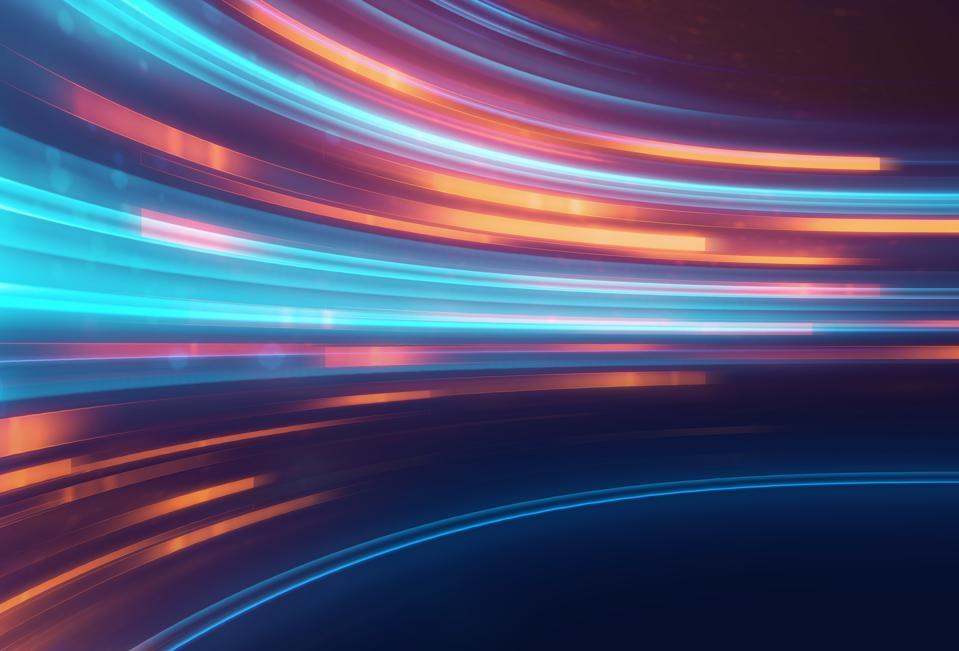 Stripey fast lights to symbolize agility. Having flashbacks to 80s roller skating rink