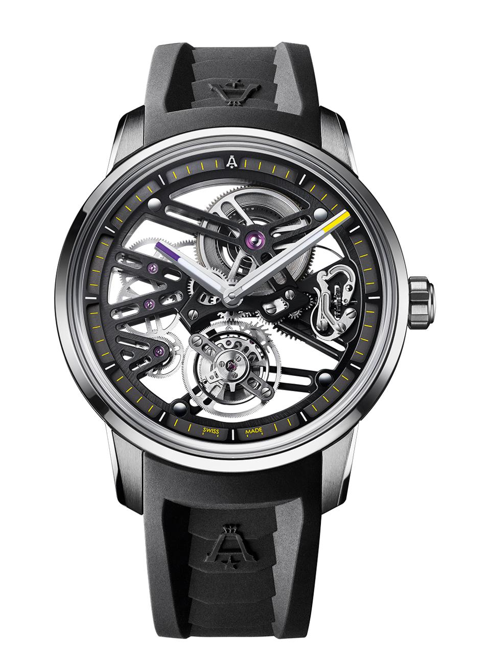 The Justin Jefferson Angelus tourbillon, with purple and yellow tips on the hands, reflecting the team colors.