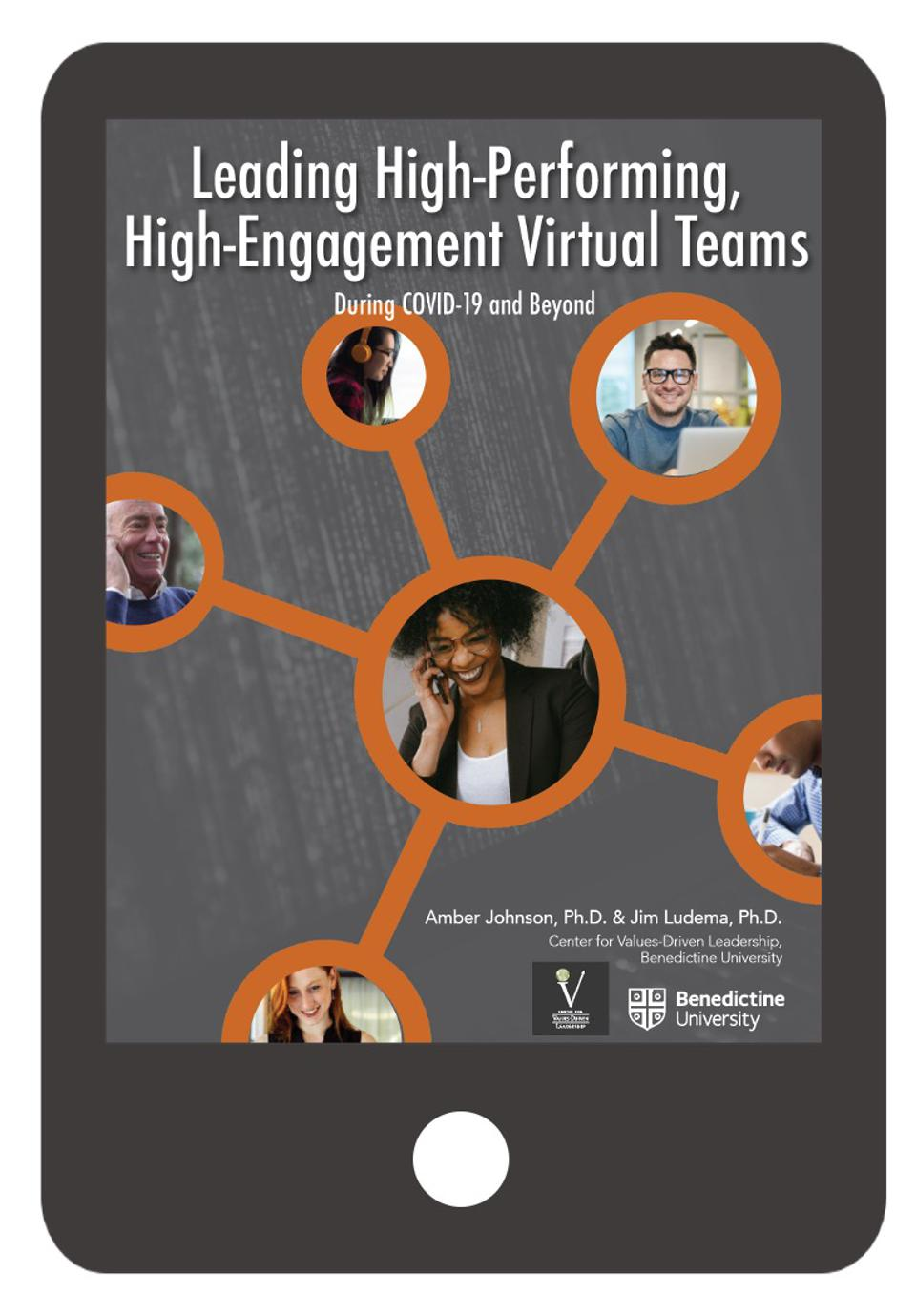 Image of an ebook for virtual team leaders