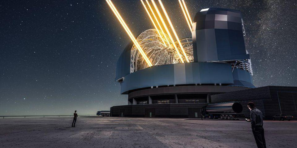 The Extremely Large Telescope (ELT), with a main mirror 39 metres in diameter.