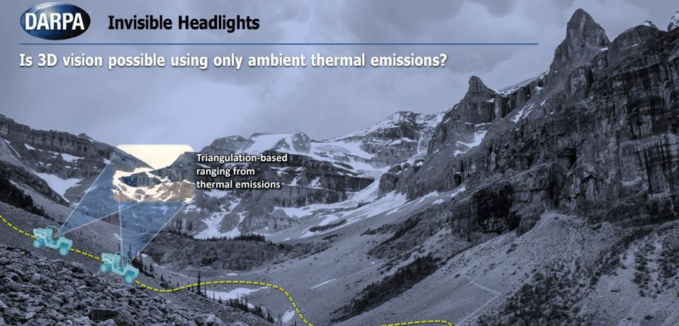 A slide from DARPA's Invisible Headlights briefing for proposers.