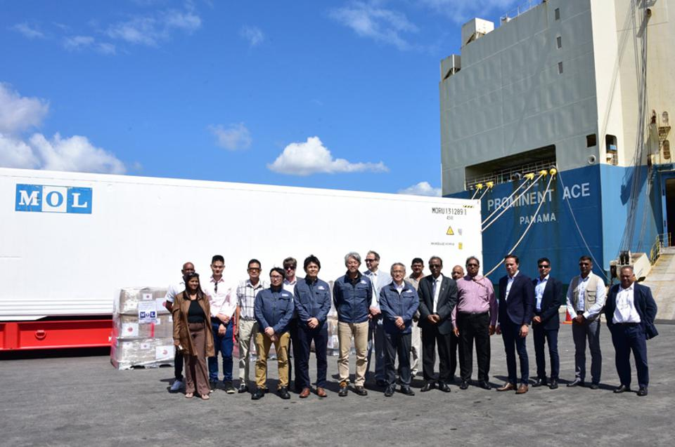 The Government of Mauritius received a refrigerated container valued at $125K from the Mitsui O.K. Lines Ltd (MOL) of Japan