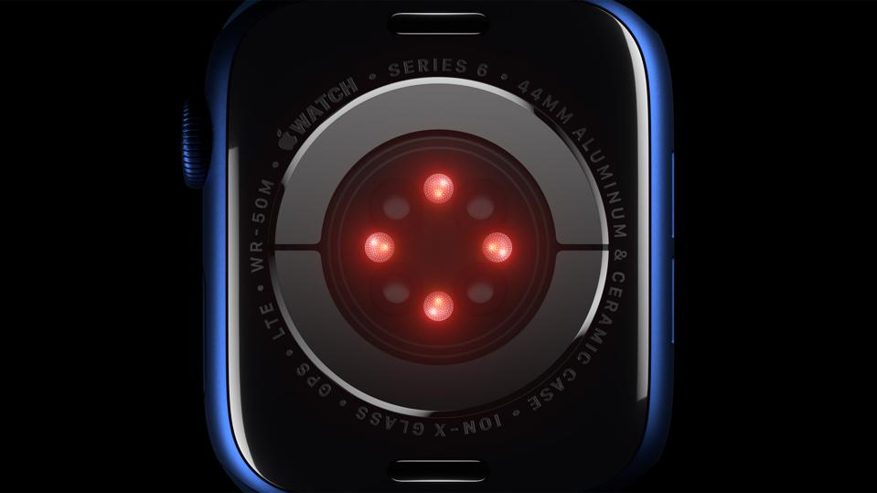 The new sensors of the Apple Watch Series 6.