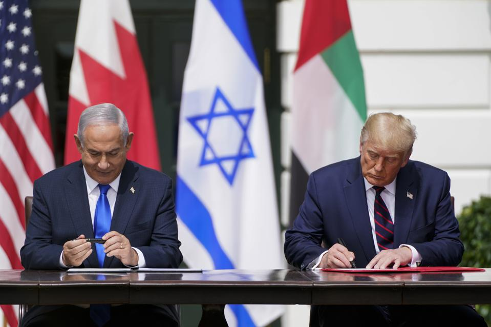 Trump signs Abraham Accord at White House