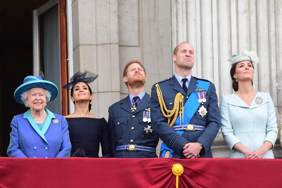 Royal Air Force's 100th Birthday Flypast From Buckingham Palace