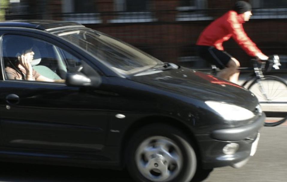 Motorist on cellphone