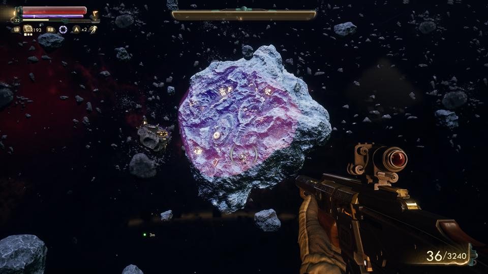 Gorgon in space in The Outer Worlds' Peril on Gorgon DLC.