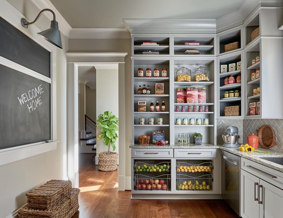 A spacious pantry