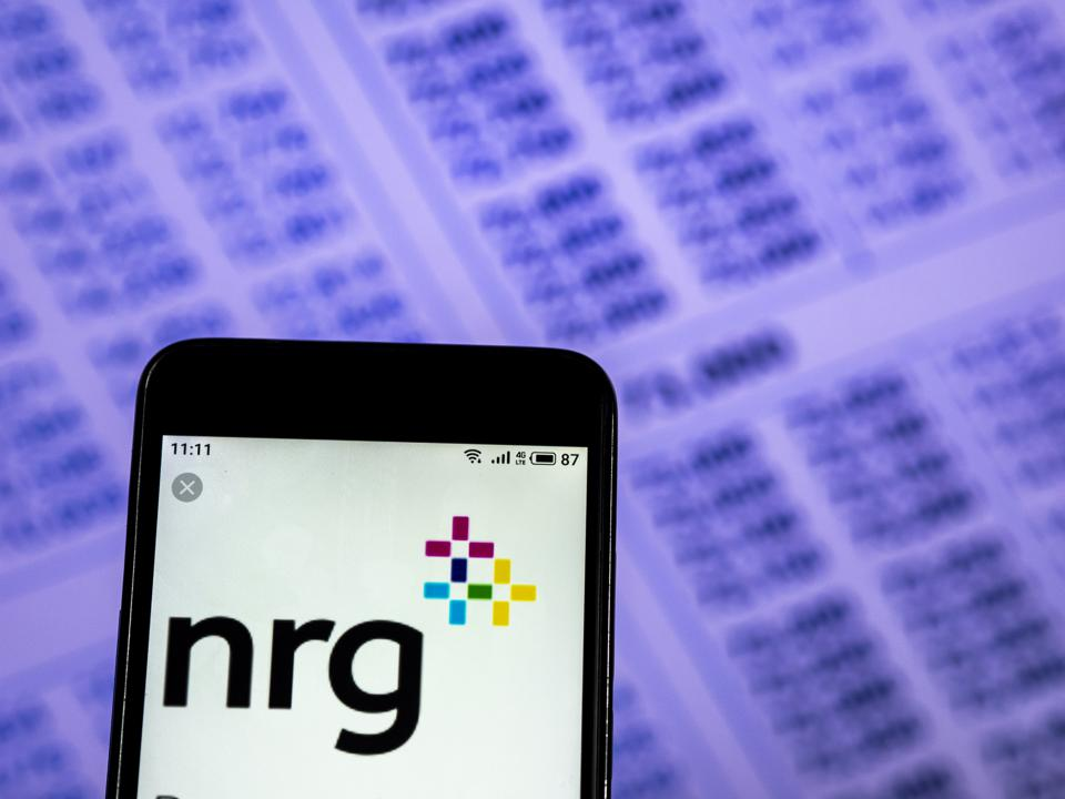 NRG Energy Company logo seen displayed on a smart phone