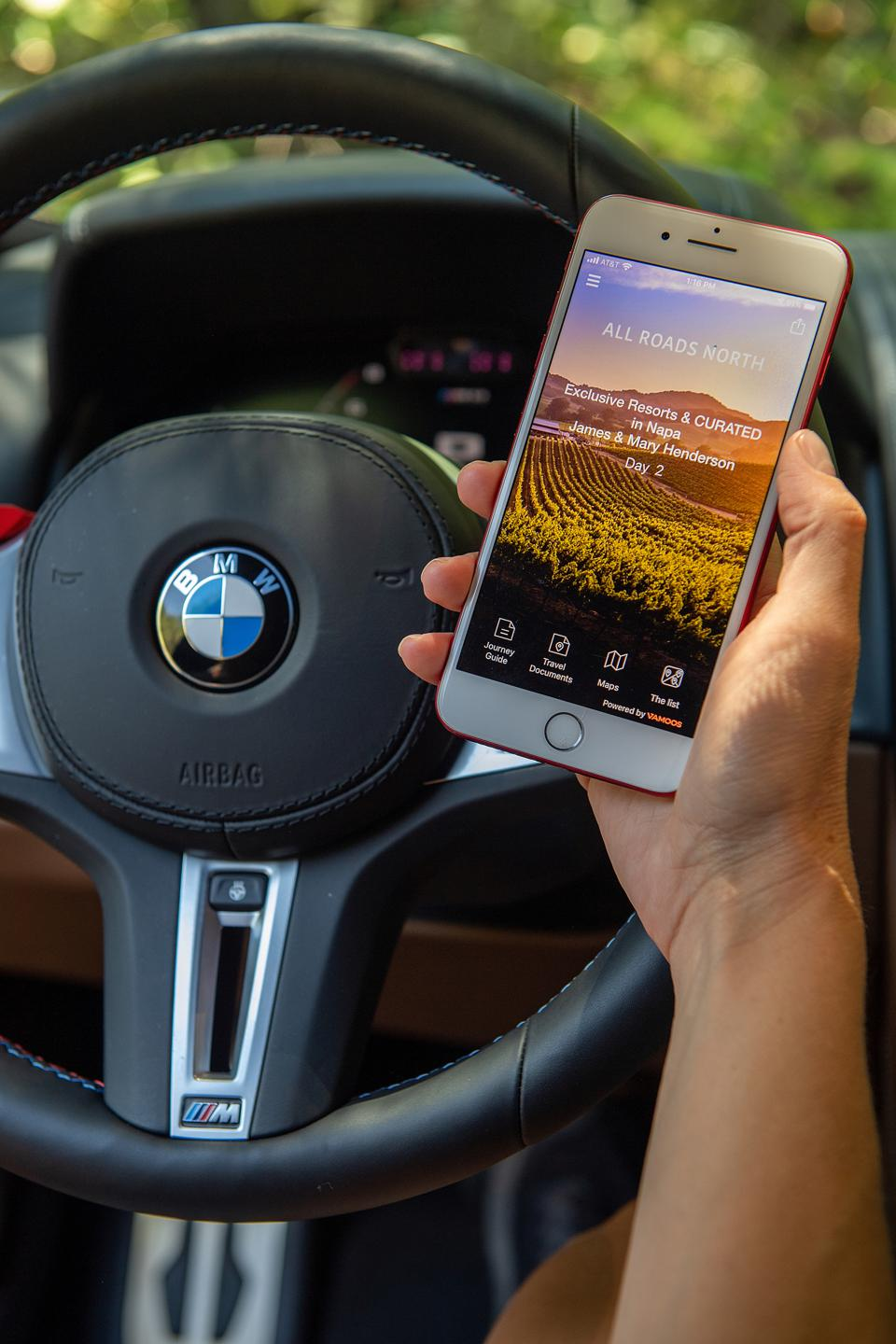 cell phone and bmw steering wheel